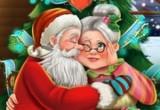 لعبة قبلة سانتا لزوجته