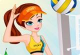 لعبة كرة الطائرة على الشاطئ