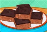 لعبة قطع الكيك بالشوكولاته