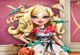 لعبة حلاقة شعر الفتاة تفاحة