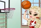 لعبة تلبيس لاعبة كرة السلة الجميلة