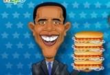 لعبة هوت دوج الرئيس اوباما