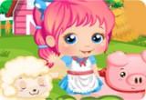 لعبة الطفلة اليس في المزرعة السعيدة