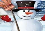 لعبة صنع و تزيين رجل الثلج