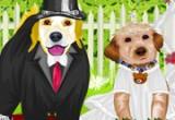 لعبة زفاف العروسة والعروس الكلاب