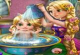 لعبة تحميم طفلة رابونزيل